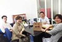 林副率隊拜訪新港三好屋吳俊宏洪老闆謝募款茶會大力支持(107.03.28)