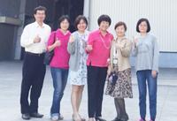 林副率隊拜訪嘉義穎杰鑄造涂美華董事長答謝募款茶會大力支持(107.03.28)